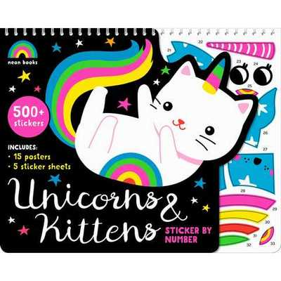 Unicorns and Kittens - Sticker By Number