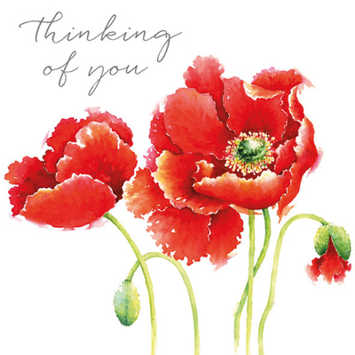 Card - Poppies Thinking of You  OTYH038