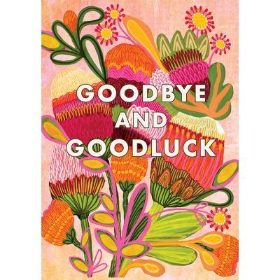 Big Card Goodbye and Goodluck