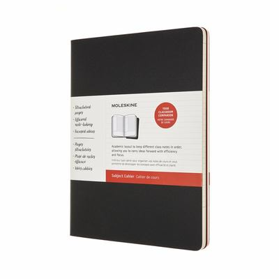 Cahier Subject Journal set of 2 Extra Large Black and Cranberry