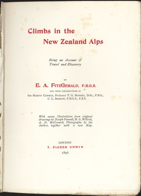 Climbs in the new Zealand Alps