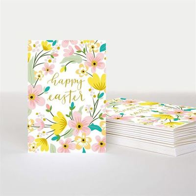 Card - Happy Easter Floral mini cards