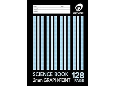 SCIENCE BK A4 128 PAGE 2MM GRAPH 8MM FEI