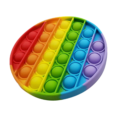 Bubble Pop It - Rainbow Colour Round