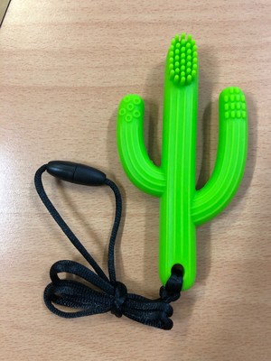 Cactus Chew Chewable Toy Training Toothbrush Green - PGP