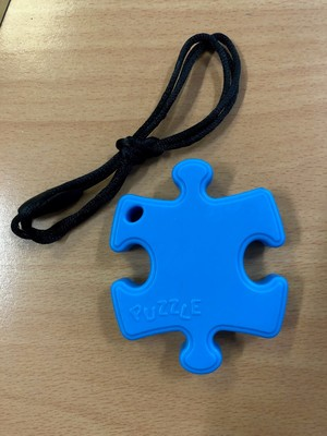 Puzzle Piece Chew Chewable Toy Teether Blue - PGP
