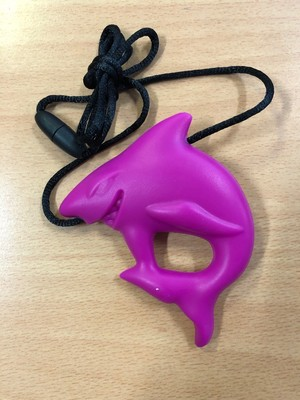 Pink Shark Chew Chewable Sensory Necklace