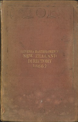 New Zealand Directory for 1866-67