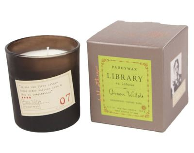 Library Candle 6.5oz Oscar Wilde