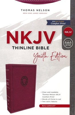NKJV Thinline Bible Youth Red Letter Edition [Burgundy]