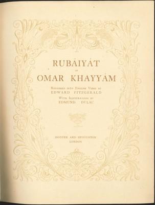 Rubaiyat of Omar Khayyam with illustrations by Edmund Dulac