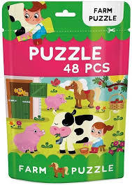 Large farm packet jigsaw puzzle 48 pieces