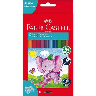 Faber Castell Jumbo Colour Pencils - Pack of 12