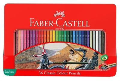 Faber Castell Classic Colour Pencils Tin of 48+Accessories