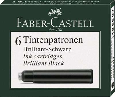 Faber Castell Ink Cartridge 0.86ml standard black x 6