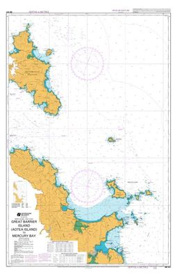 Great Barrier Island To Mercury Bay Marine Map