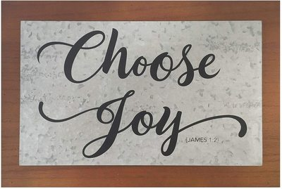 Plaque Choose Joy Wood Decor