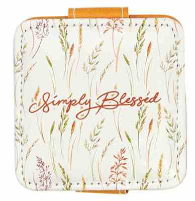 Compact Mirror Square Simply Blessed