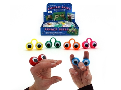Finger Spies Puppet Individual Wiggly Eyes 30mm Assorted Colours - TNW