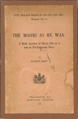 The Maori As He Was (1924)