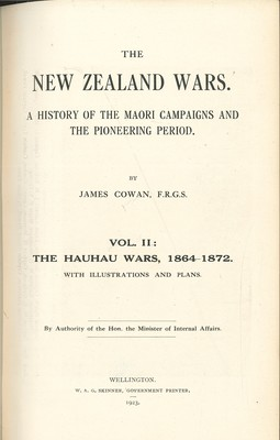 The New Zealand Wars Vol.I&II (1922/23)