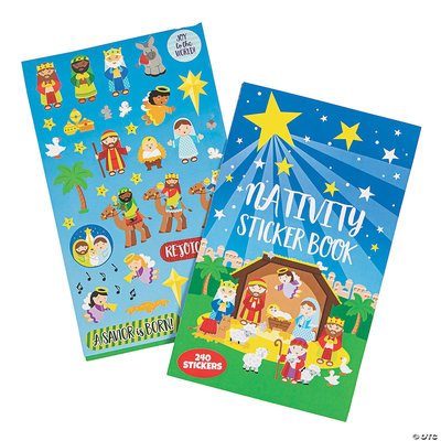 Nativity Sticker book 240 Stickers