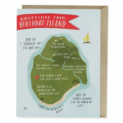 Emily Mcdowell and Friends Birthday Island Card