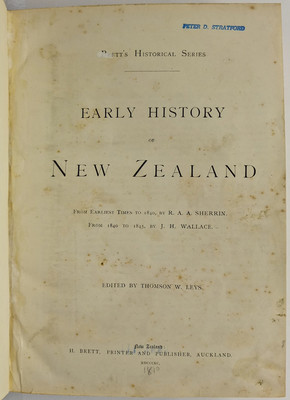 Early History of New Zealand From Earliest Times to 1840, From 1840-1845