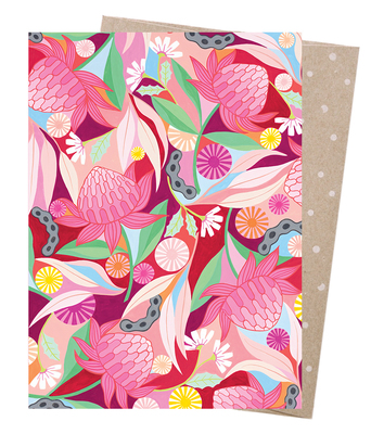 Blank Greeting Card - Waratah Whirl