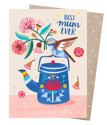 Blank Greeting Card - Best Mum Teatime