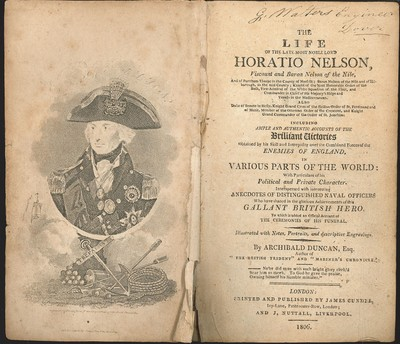 The Life of the Late Most Noble Lord Horatio Nelson (1806)