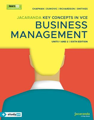 Jacaranda Key Concepts VCE Business Management Units 1&2 (6E) LearnON and Print and StudyON