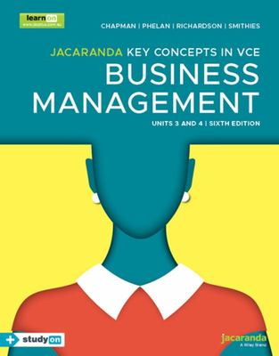 Jacaranda Key Concepts in VCE Business Management Units 3&4 (6E) LearnON and Print and StudyON