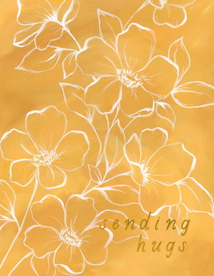 Card - Golden poppy hugs C870