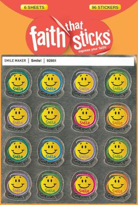 Smile!:  6 Sheets 96 Stickers Pack
