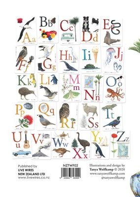 NZ Illustrated Alphabet in Te Reo Māori and English