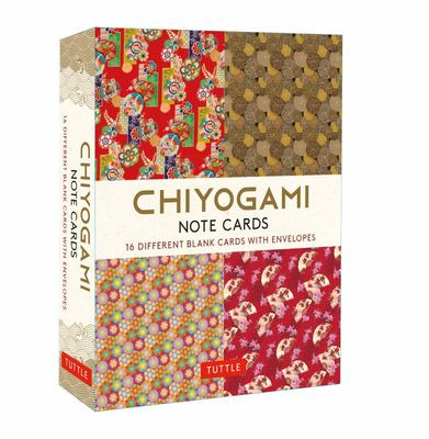 Chiyogami Note Cards - 16 Different Blank Cards and Envelopes