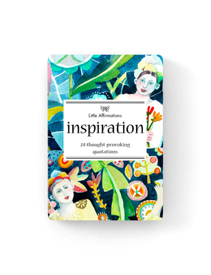 Inspiration: 24 thought provoking quotations (24 Affirmation Cards) DINS