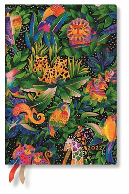 Paperblanks Diary 2022 - Jungle Song Midi Flexi - Week-to-an-Opening - Horizontal