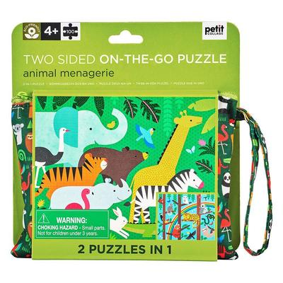 Two Sided On The Go Puzzle – Animal Menagerie