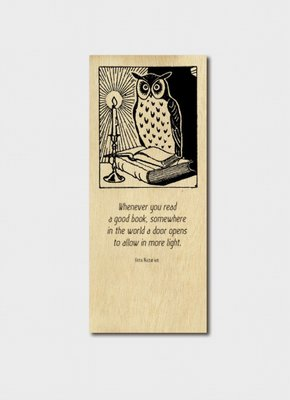 BM 0194 Timber Bookmark - Whenever you read a good book.....