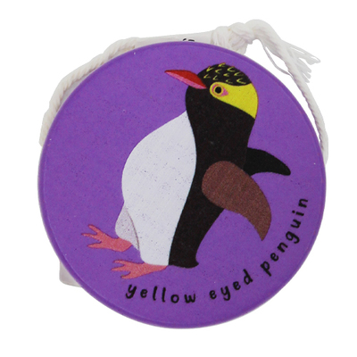 Wooden Yoyo Purple - Yellow Eyed Penguin