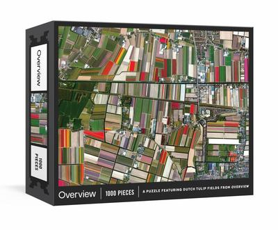 Overview Puzzle - A 1000-Piece Jigsaw Featuring Dutch Tulip Fields from Overview