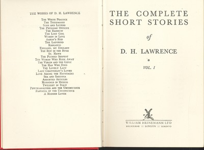 The Complete Short Stories of D.H. Lawrence 3 Volumes
