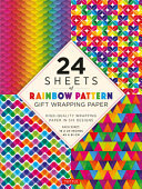Rainbow Patterns Wrapping Paper 24 Sheets