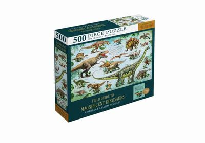 Magnificent Dinosaurs 500-Piece Puzzle and Booklet: (Jigsaw Puzzles for Kids and Adults, Dinosaur Gifts for Kids)