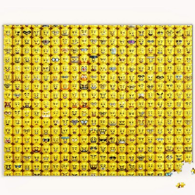 LEGO Minifigure Faces 1000pc Puzzle