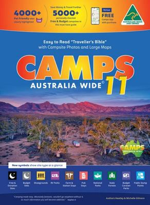 Camps 11 Camping Guide Easy to Read with Photos Spiral Bound - Easy to Read with Camps Photos, Larger Maps & Text