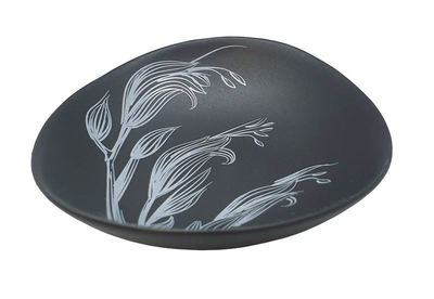 Bowl - Harakeke White on Black 10cm Bowl