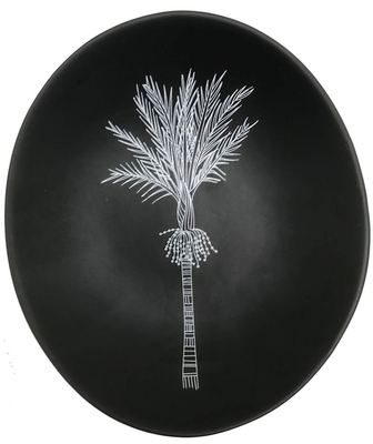 Bowl - Nikau White on Black 10cm Bowl